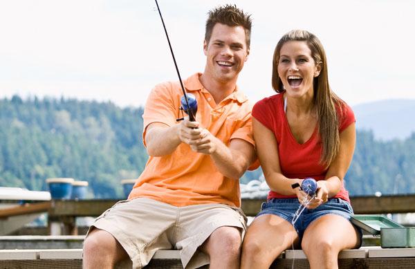 фотосессия на рыбалке пара