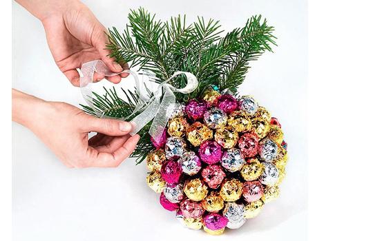 Сладкий новогодний букет своими руками