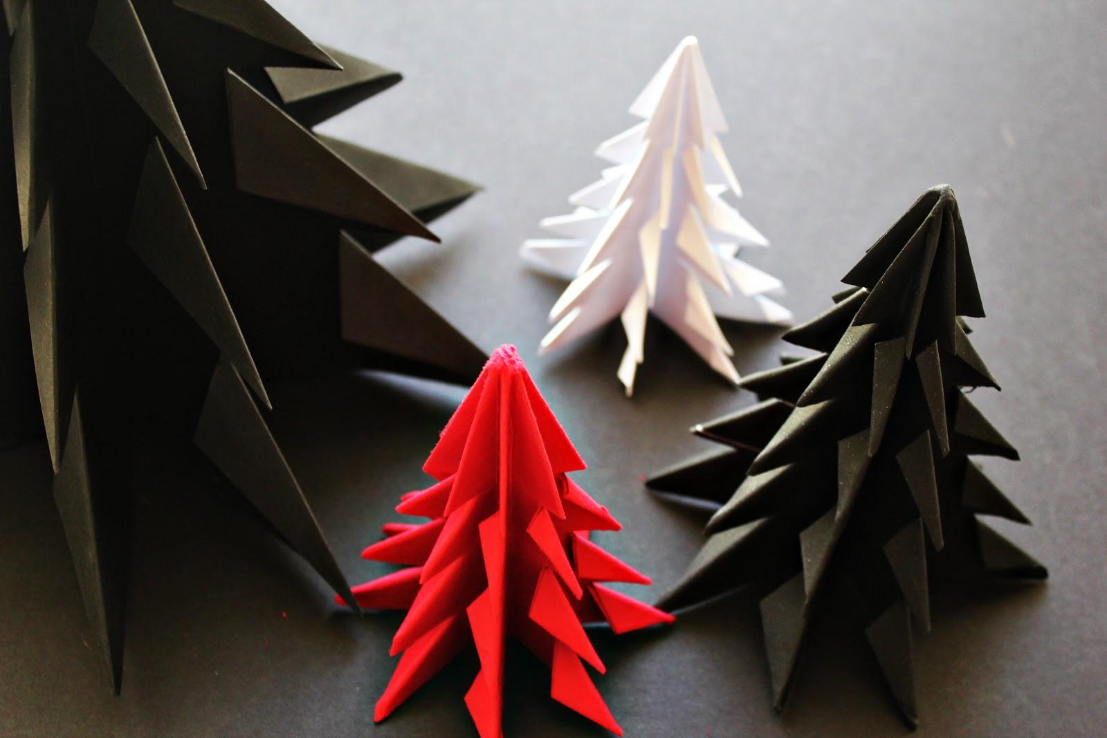 Объемные оригами на новый год