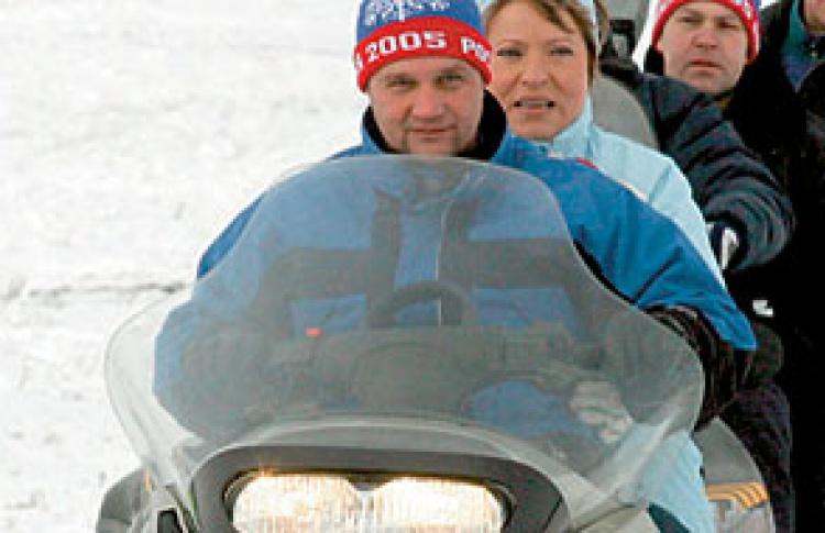 Снегоходный спорт: Чемпионат Петербурга (1-й этап, спринт-кросс)
