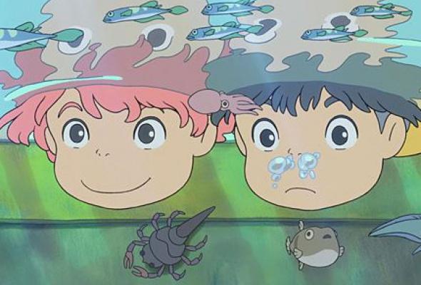 Рыбка Поньо на утесе - Фото №2