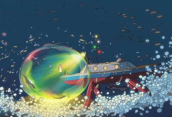 Рыбка Поньо на утесе - Фото №4