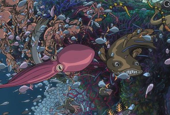 Рыбка Поньо на утесе - Фото №8