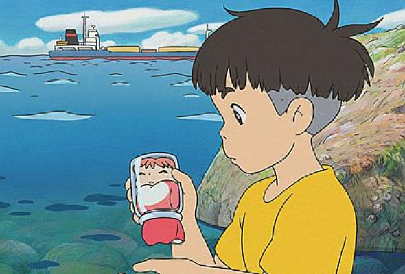 Рыбка Поньо на утесе - Фото №11
