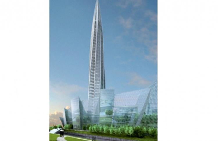 Строительство «Охта центра»