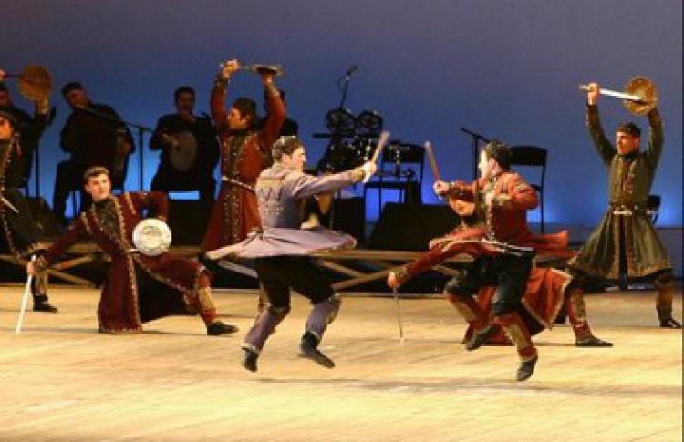 """Театр фольклора и грузинского национального балета """"Метехи"""" под руководством Г. Поцхишвили"""