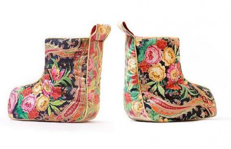 Валешки: красивая итеплая домашняя обувь