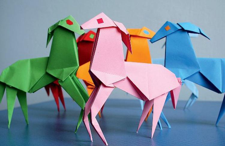 Новогоднее оригами