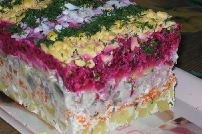 Салат селедка под шубой приготовление с