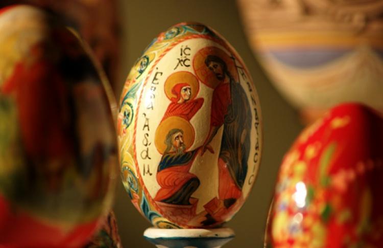 Выставка пасхальных яиц из коллекции иконописной мастерской Троице-Сергиевой Лавры