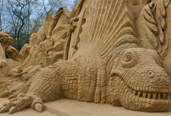 """IX Международный фестиваль песчаных скульптур """"Мифы или реальность. Загадки истории"""" - Фото №1"""