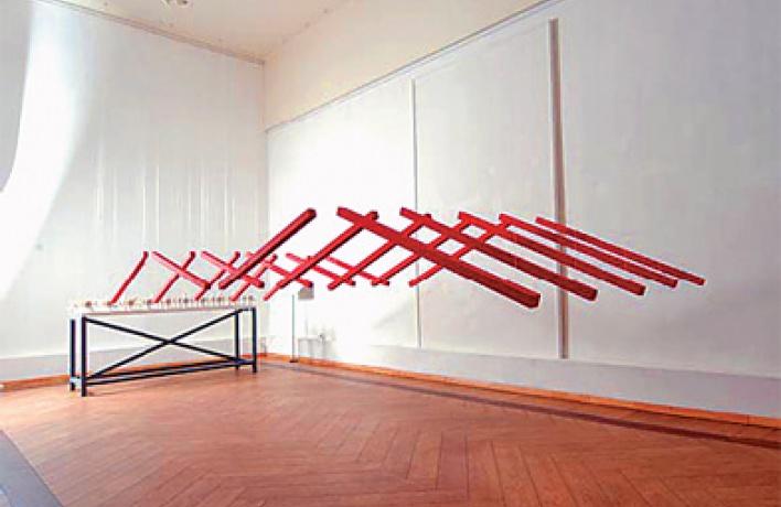 Управляемая скульптура Романа Сакина в«Глобусе»