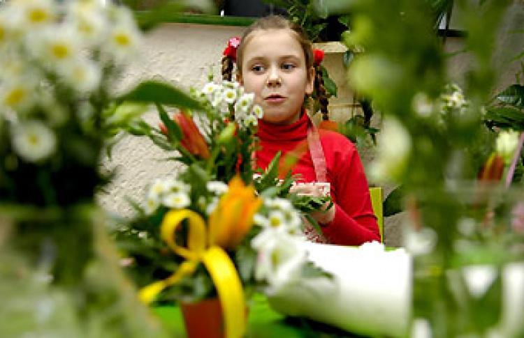 Мастерская по подготовке юных флористов