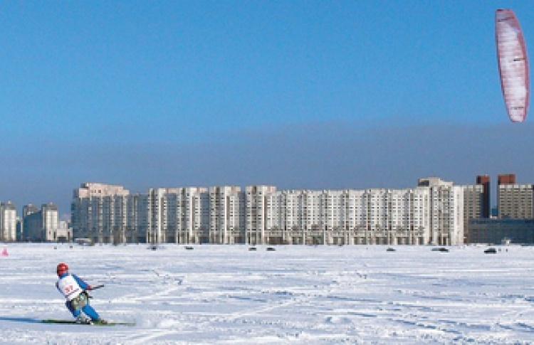 Зимний кайтинг. VIII Открытый чемпионат Санкт-Петербурга