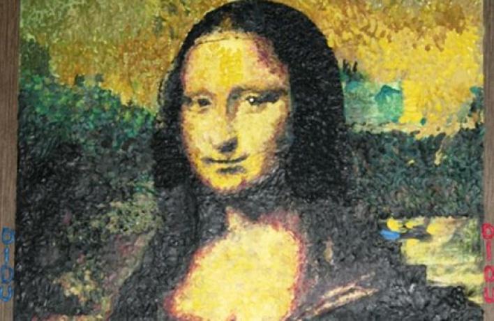 Наша Мона Лиза изпластилина весит 120 кг