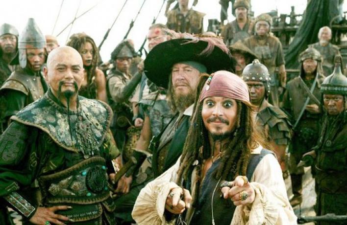 Появилось первое промо «Пиратов Карибского моря-4»