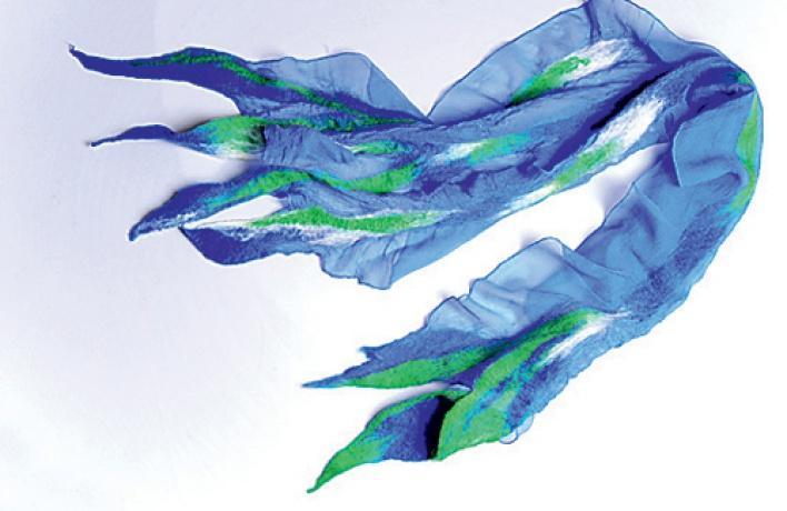 Как сделать войлочный шарф