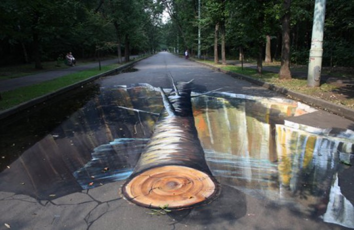 Вмосковских парках появились трехмерные картины