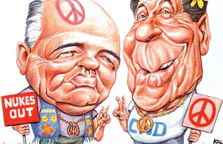 Россия-США. Политическая карикатура вчера и сегодня