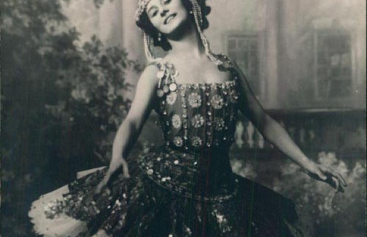Артисты Мариинского театра в старой открытке