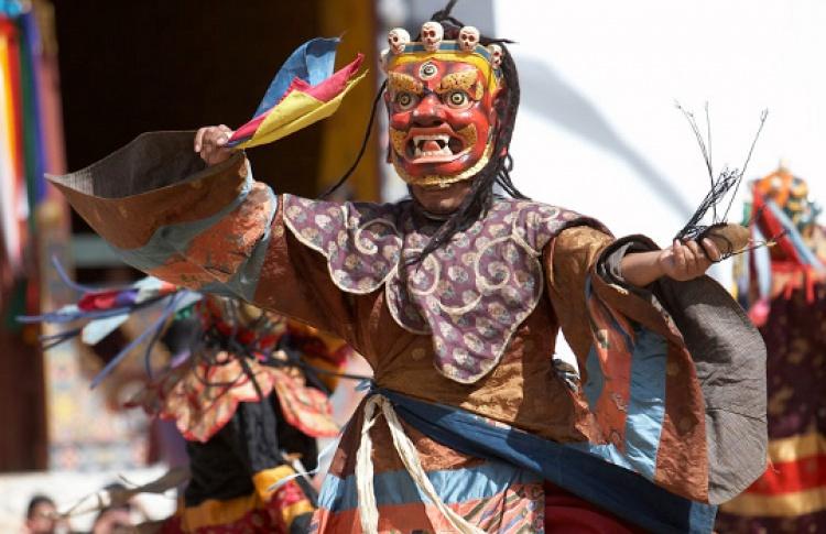 Танцы лам королевства Бутан