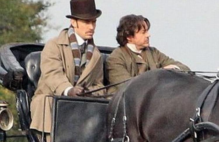 Появились первые кадры сосъемочной площадки «Шерлок Холмс 2»