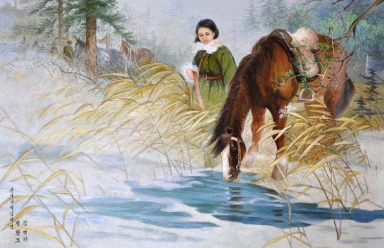 """""""И подо льдом течет вода"""". Современное искусство Северной Кореи"""