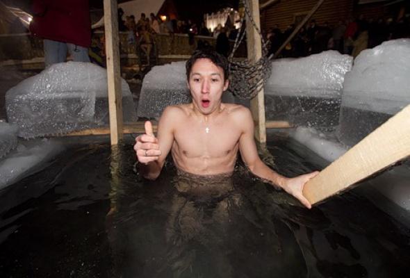 Как вМоскве купались наКрещение - Фото №1