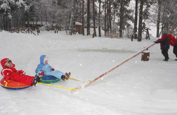 Зимние развлечения для детей вресторане «Русская рыбалка»