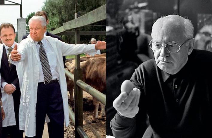 Борис Ельцин иМихаил Горбачев