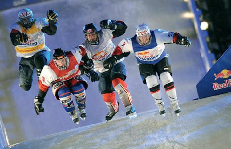 ВМоскве придуман новый вид спорта— конькобежный кросс