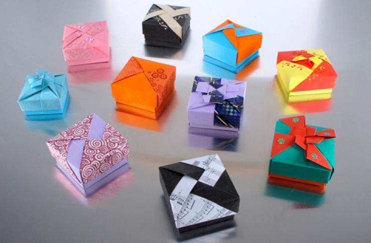 Коробочка оригами своими руками фото
