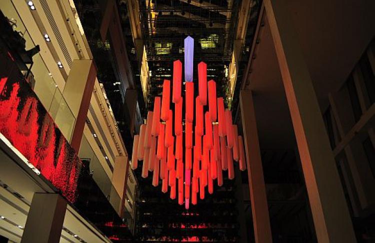 Вунивермаге появилась световая инсталляция немецких художников
