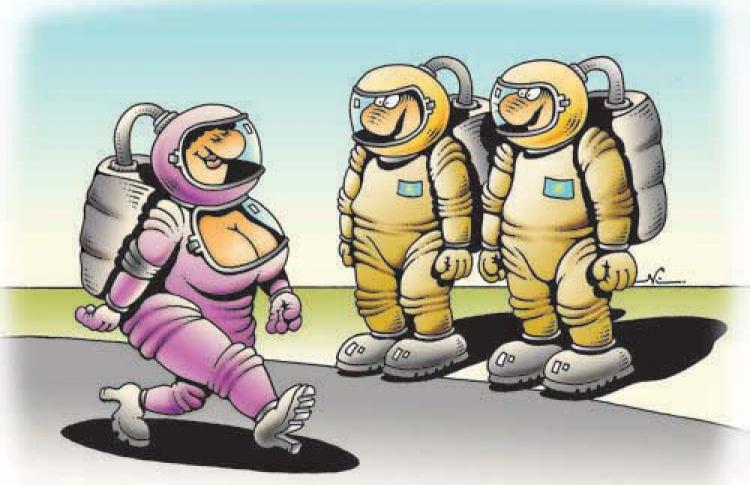 В космическом масштабе