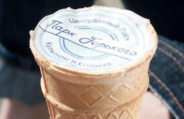 ВПарке Горького начали производить свое мороженое