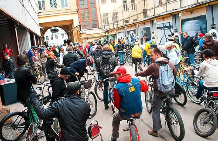 Велопробег по центру Петербурга