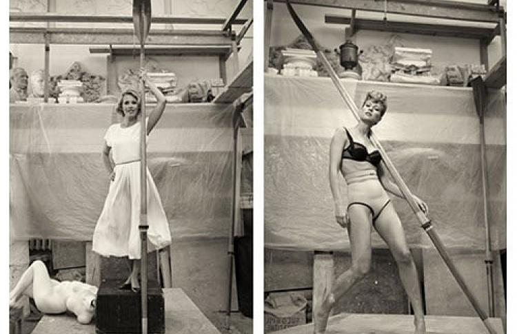 """Выставка ростовых фотографий """"Девушка с веслом"""""""