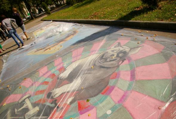 ВЛужниках прошел фестиваль street painting - Фото №0