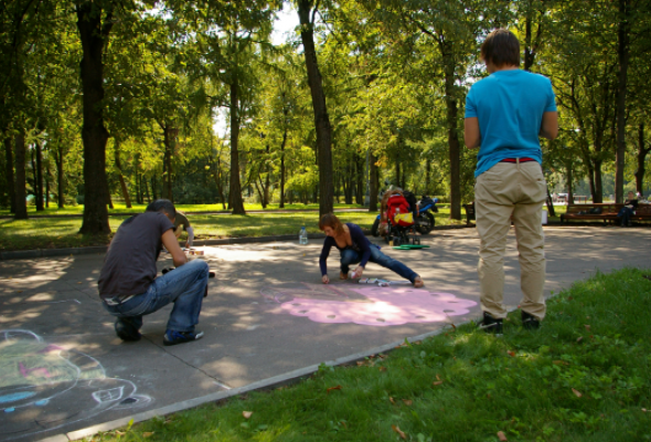 ВЛужниках прошел фестиваль street painting - Фото №4
