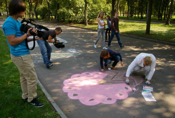 ВЛужниках прошел фестиваль street painting - Фото №5