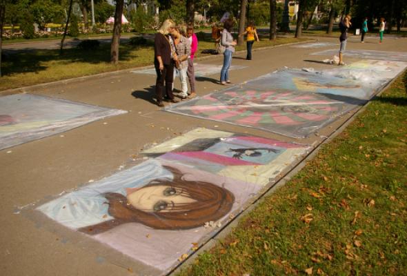 ВЛужниках прошел фестиваль street painting - Фото №3