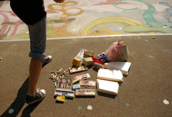 ВЛужниках прошел фестиваль street painting - Фото №6