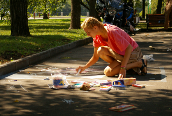 ВЛужниках прошел фестиваль street painting - Фото №7