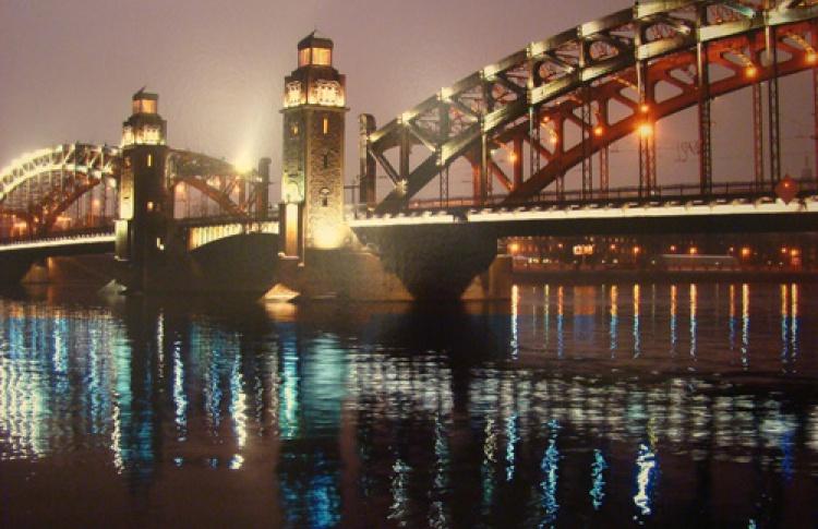 Сто фотографий к столетию Большеохтинского моста