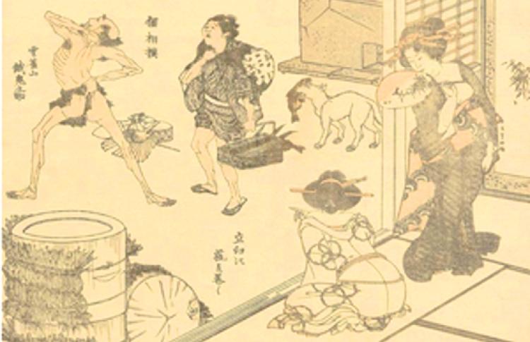 Манга Хокусая: энциклопедия японской жизни в картинках
