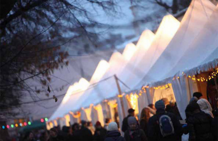 Рождественская ярмарка в саду Эрмитаж