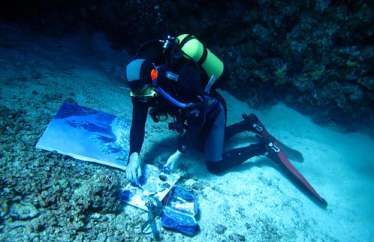 Живопись под водой