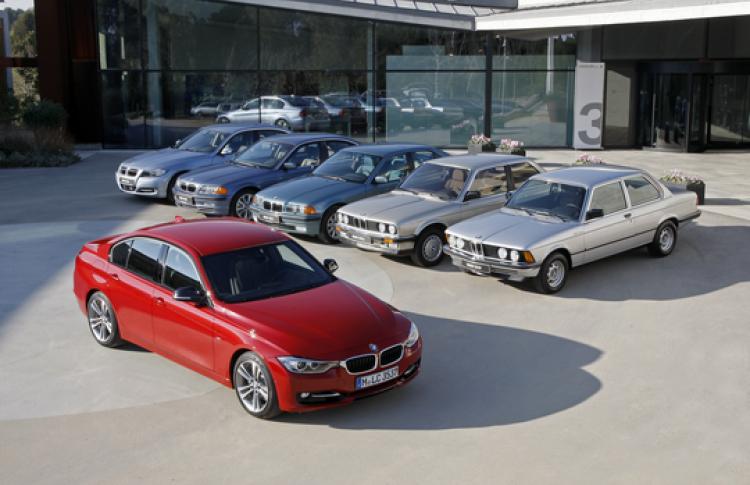 Шесть поколений BMW 3 серии