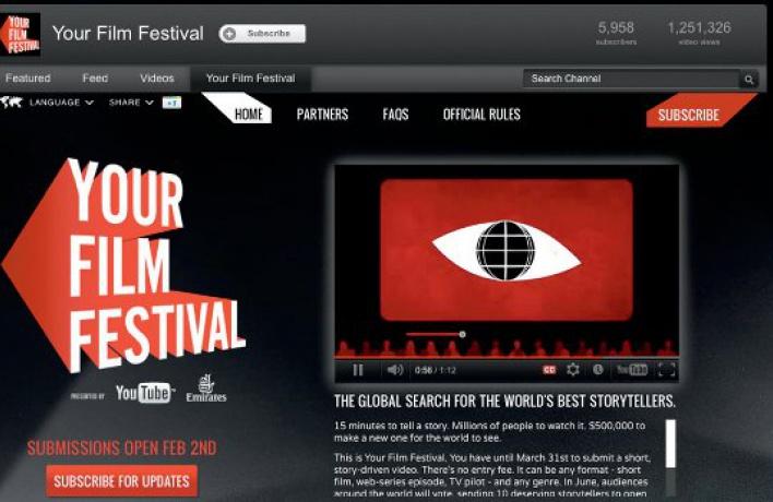 YouTube дарит полмиллиона залучшую короткометражку