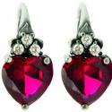 Серьги-сердечки Amova Jewelry коДню всех влюбленных